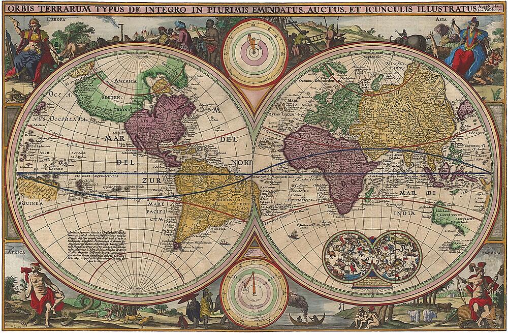 World Map 1657 by VintageLevel