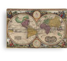 World Map 1657 Canvas Print