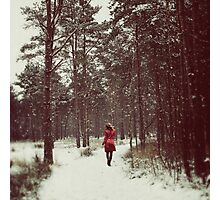 Her Winter of Red Photographic Print