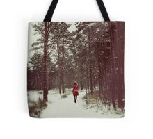 Her Winter of Red Tote Bag