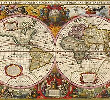 World Map 1630 by VintageLevel