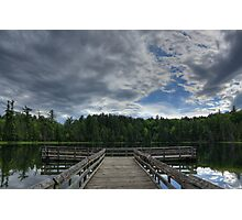 Rainclouds over Bright Lake, Hartwick Pines State Park Photographic Print