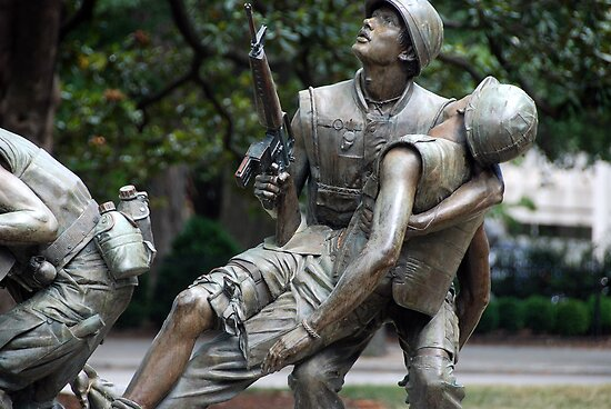 Vietman War Memorial, Raleigh NC USA by John Schneider