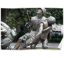 Vietman War Memorial, Raleigh NC USA Poster