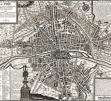 Paris Map 1643 by VintageLevel