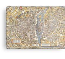 Paris Map 1150 Metal Print