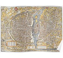 Paris Map 1150 Poster