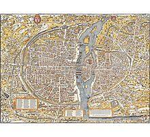 Paris Map 1150 Photographic Print