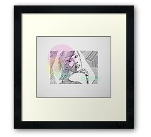 Ink Woman-Colour Framed Print