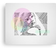 Ink Woman-Colour Canvas Print