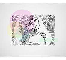 Ink Woman-Colour Photographic Print