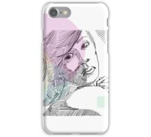Ink Woman-Colour iPhone Case/Skin
