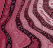 Pink Stripes and Curves by Betty Mackey