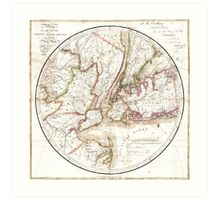 New York Map 1828 Art Print