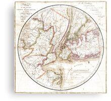 New York Map 1828 Metal Print