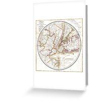 New York Map 1828 Greeting Card
