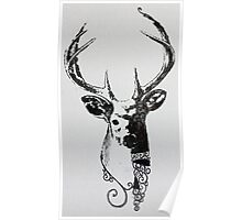 Screen Print- Stylised Stag. Poster