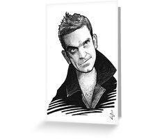 Caricature - Robbie Williams Greeting Card
