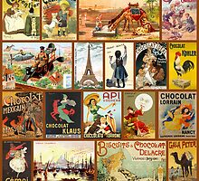 Vintage Chocolate Advertisement Collage by VintageLevel