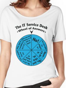 The IT Service Desk Wheel of Answers. Women's Relaxed Fit T-Shirt