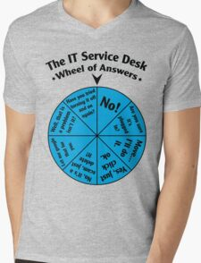 The IT Service Desk Wheel of Answers. Mens V-Neck T-Shirt