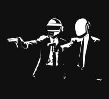 Daft Punk Tshirt - Daft Fiction by razaflekis