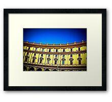 Facade of building Framed Print
