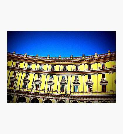 Facade of building Photographic Print