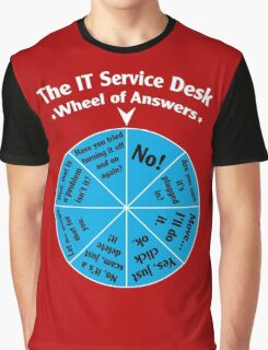 The IT Service Desk Wheel of Answers. Graphic T-Shirt
