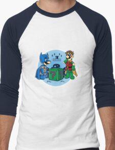 BatMario VS Riddler Men's Baseball ¾ T-Shirt