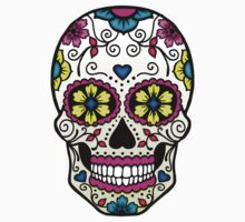 Purple Sugar Skull by TeaTimeIsOver