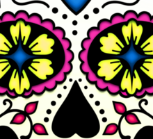 Purple Sugar Skull Sticker