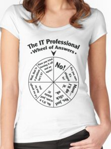 The IT Professional Wheel of Answers. Women's Fitted Scoop T-Shirt