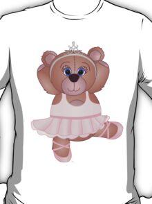 Cute Cartoon Teddy Bear Ballerina T-Shirt