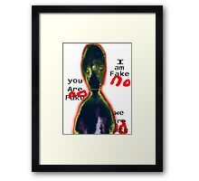 Alien Existentialism and the Annoying Third Eye Inverted Framed Print