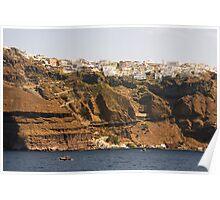 Thíra, Santorini, Greece Poster