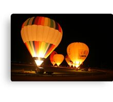 The balloon night glow, Strathalbyn,S.A. Canvas Print