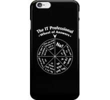 The IT Professional Wheel of Answers. iPhone Case/Skin