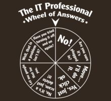 The IT Professional Wheel of Answers. by OffensiveFun