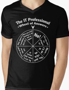The IT Professional Wheel of Answers. Mens V-Neck T-Shirt