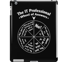 The IT Professional Wheel of Answers. iPad Case/Skin