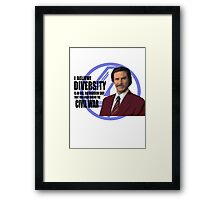 Anchorman - Ron Framed Print