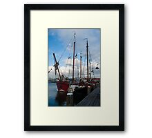Schooners in the Netherlands Framed Print