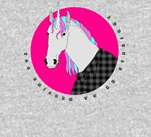Too unicorn to be straight Zipped Hoodie
