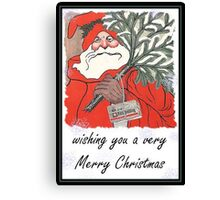 Wishing You A Very Merry Christmas Greeting  Canvas Print