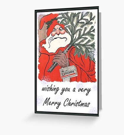 Wishing You A Very Merry Christmas Greeting  Greeting Card