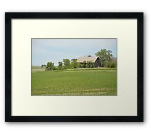 Barn Hidden Among The Trees Framed Print