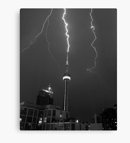 Lightning Striking the CN Tower Canvas Print