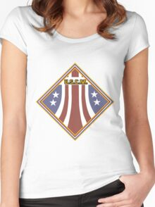 Colonial Marines Placard Women's Fitted Scoop T-Shirt