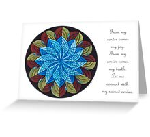 Sacred Mandala Card Full Color w/message Greeting Card